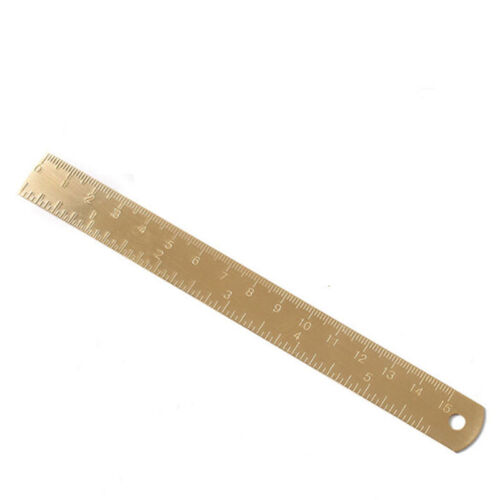 Long Thick Measurement Ruler Brass Hand Brushed Office Measuring Accessories AL