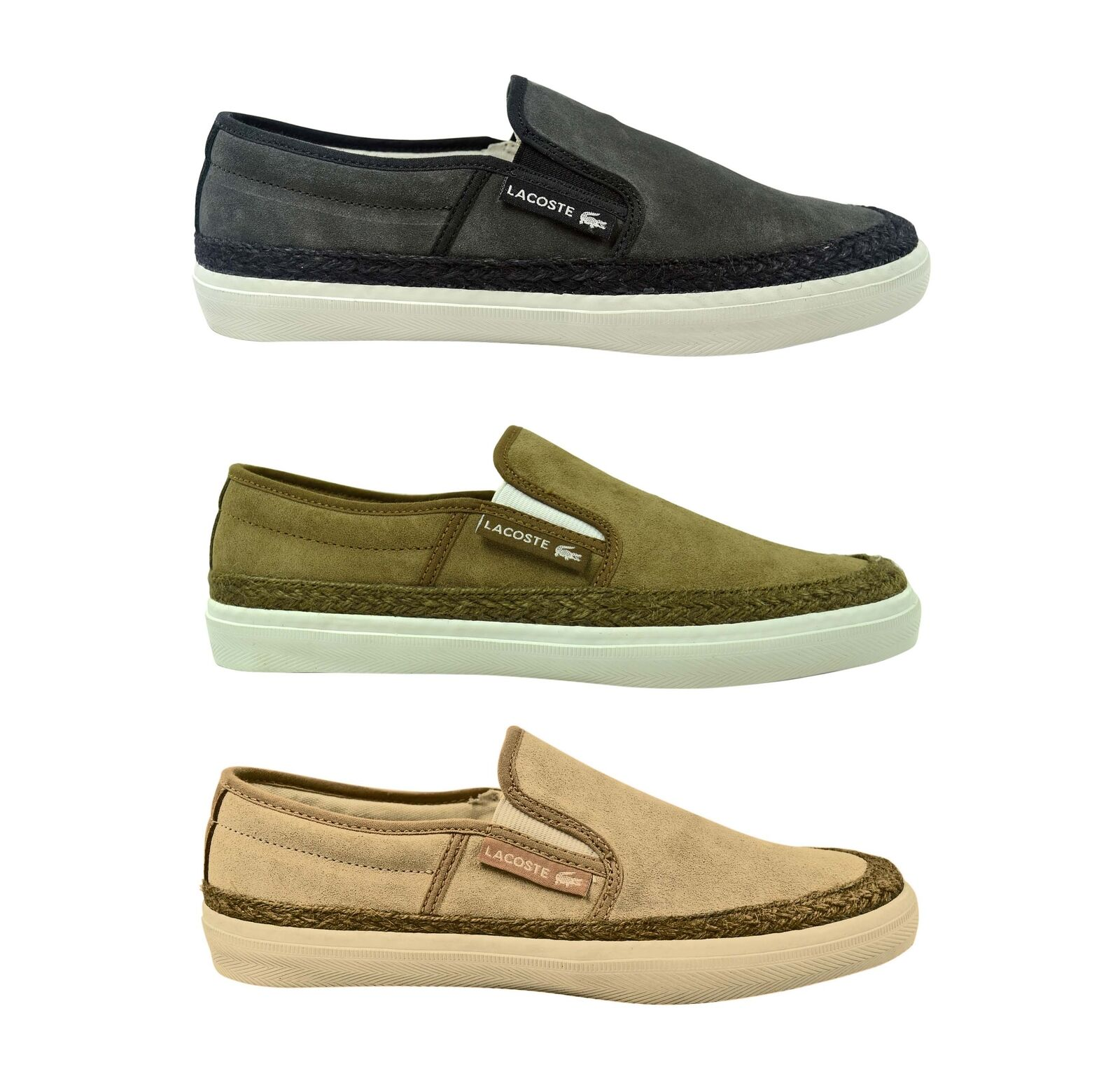 Lacoste Gazon 2 SRM dark grey, brown,off white Slipper Schuhe/Sneaker braun/grau
