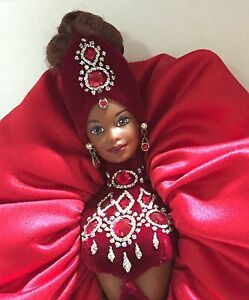 Ruby Radiance Barbie Doll The Jewel Essence Collection By Bob Mackie 1996