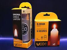 UCO Original Aluminum Candle Lantern & 9 Hour Candle Set Camping Tactical NEW