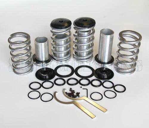 "RDT Silver 1-3/"" Adjustable Coilover Suspension Kit For Acura Integra 90-01 DA DC"