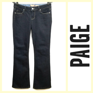 Paige  'Laurel Canyon' dark bluee wash boot cut flare stretch jeans28