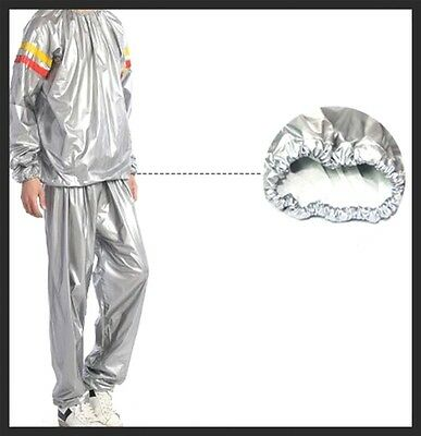 Silver Duty Suit Sauna Exercise Gym Suit Fitness Weight SILVER Unisex Large-2XL