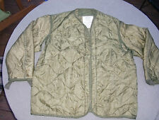 Used Small USMC US Army  M-65 Field Jacket Liner green quilted  - No buttons