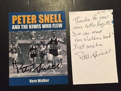Peter Snell - 800/1500m Olympic Champion 1960/64 - New Zealand - orig. autograph