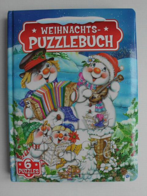 Weihnachts-Puzzlebuch, Edition Trötsch, mit 6 Puzzles, Liedern und Geschichen