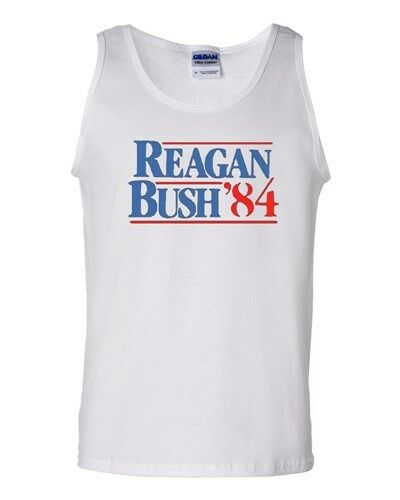 Reagan Bush /'84 Election Political Novelty Statement Graphics Adult Tank Top