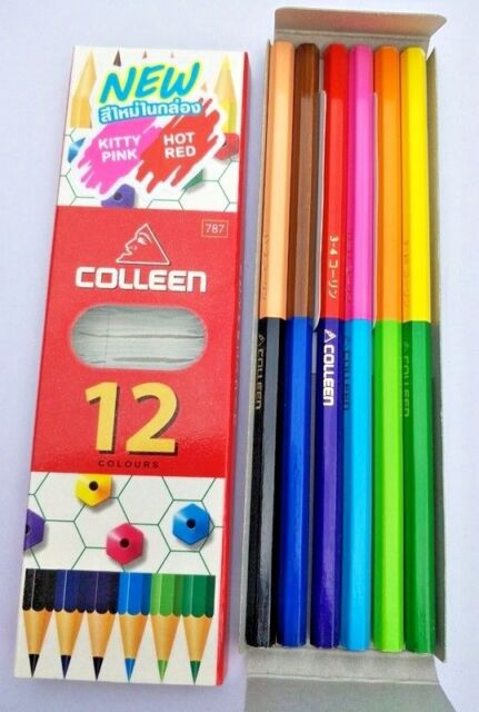 Neon Colored Pencil Set Best Colleen 12 24 36 48 60 Color Double Art ...