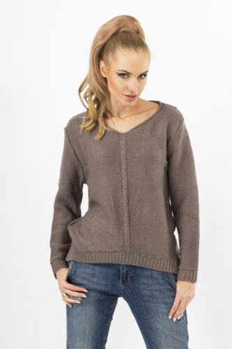 Stylish Women/'s Jumper Italian Style Cardigan V Neck Tunic Size 8-12 FAS06