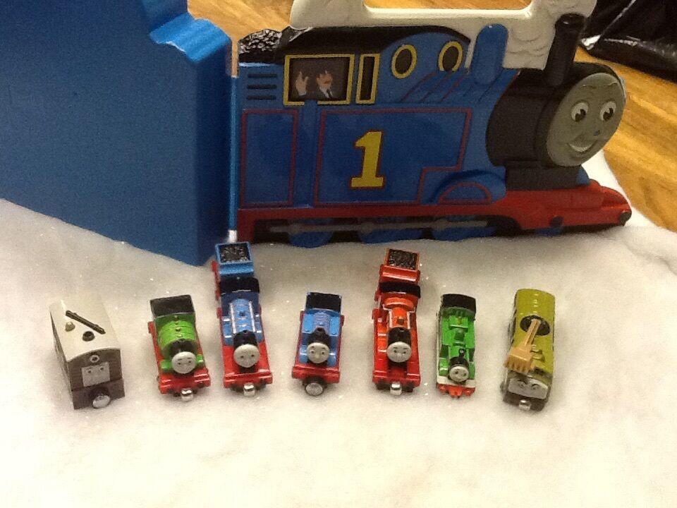 Thomas & Friends-Estuche con 6 motores y nuevo Parlante Toby