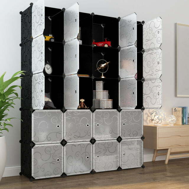 2 Drawer Cube Storage Organizer System Office Home Furniture Small Espresso New