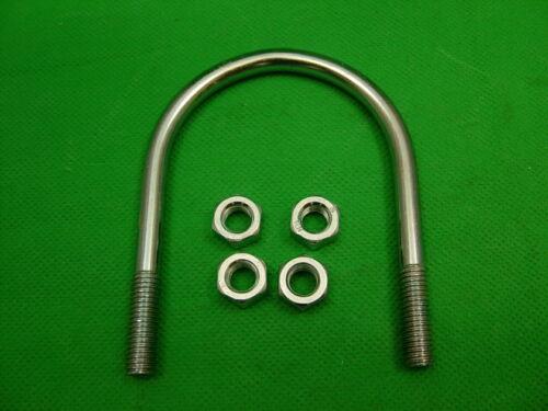 """inside gap between legs 62mm 4 nuts,pipes,tubes,2/"""" BSP Pack 10 U bolts each"""