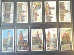 1915-Wills-Belgium-Architecture-Tobacco-cards-complete-50-card-set