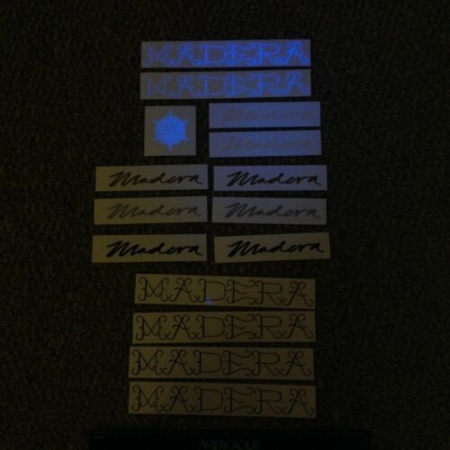 Madera Bmx bicycle decal sticker pack #1