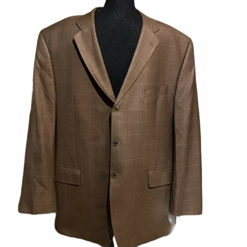 Michael Michael Kors Suit Coat Jacket Brown Plaid