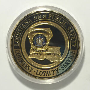 Details about Authentic Louisiana State Police Trooper Highway Patrol  Challenge Coin