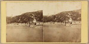 ALLEMAGNE Pfalz Bord du Rhin Photo Stereo P8L1n VintageAlbumine ca 1860