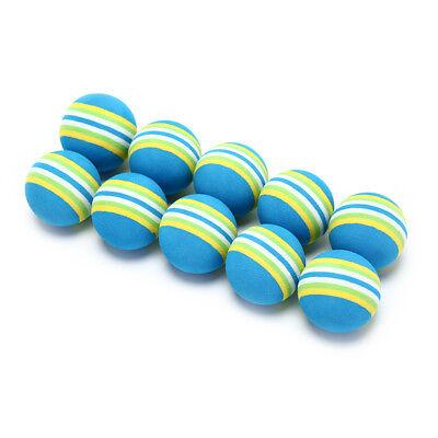 10Pcs Rainbow Stripe foam Sponge Golf Balls Swing Practice Training Aids HU