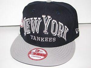 New York Yankees MLB New Era 9Fifty Strapback Adjustable Hat Cap NWT ... c3fcd1bb47