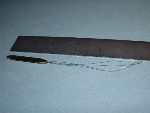 Slick Canette Enfileur 5 1//2 en avec la moitié Hitch poignée outil fly tying thread BT Dr