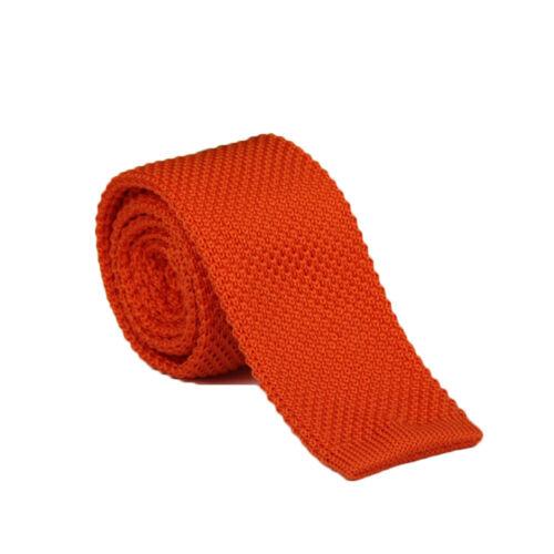 Luxury Men Solid Tie Knit Knitted Ties Skinny Woven Plain Cravate Narrow Necktie