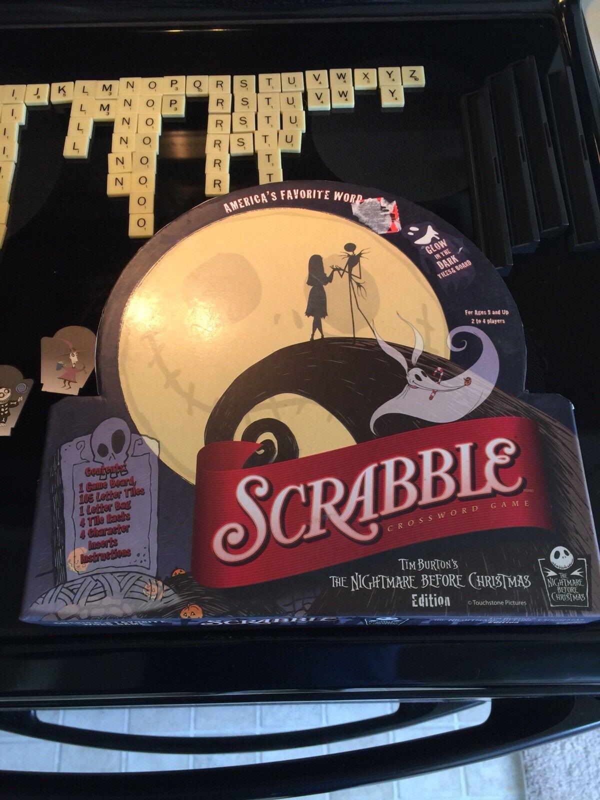 Tim Burton la pesadilla antes de Navidad Scrabble Juego De Mesa brillan en la oscuridad