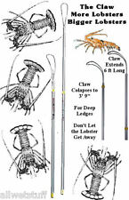 TICKLE STICK Catch Lobster bug Langosta snair claw net bully pole bag dive snare