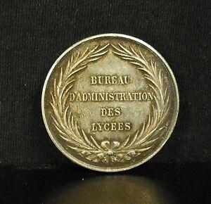 Bon CœUr Médaille Jeton En Argent Bureau D'instruction Des Lycées Second Empire P Abeille Techniques Modernes