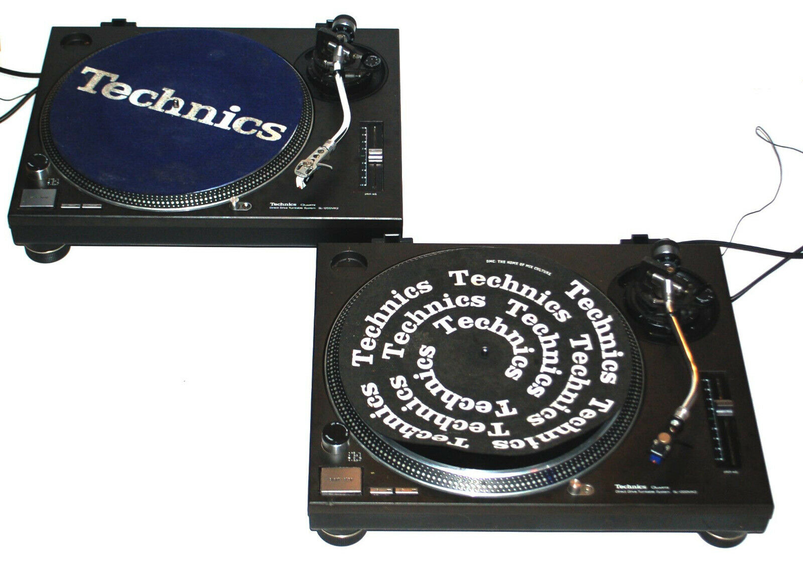 Image 1 - Vintage-Pair-of-Technics-SL-1200MK2-Direct-Drive-DJ-Turntables-Storage-Find