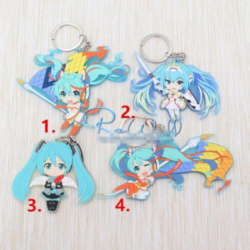 T625 Hot Anime Hatsune Miku acrylic Keychain Key Ring Rare straps cosplay