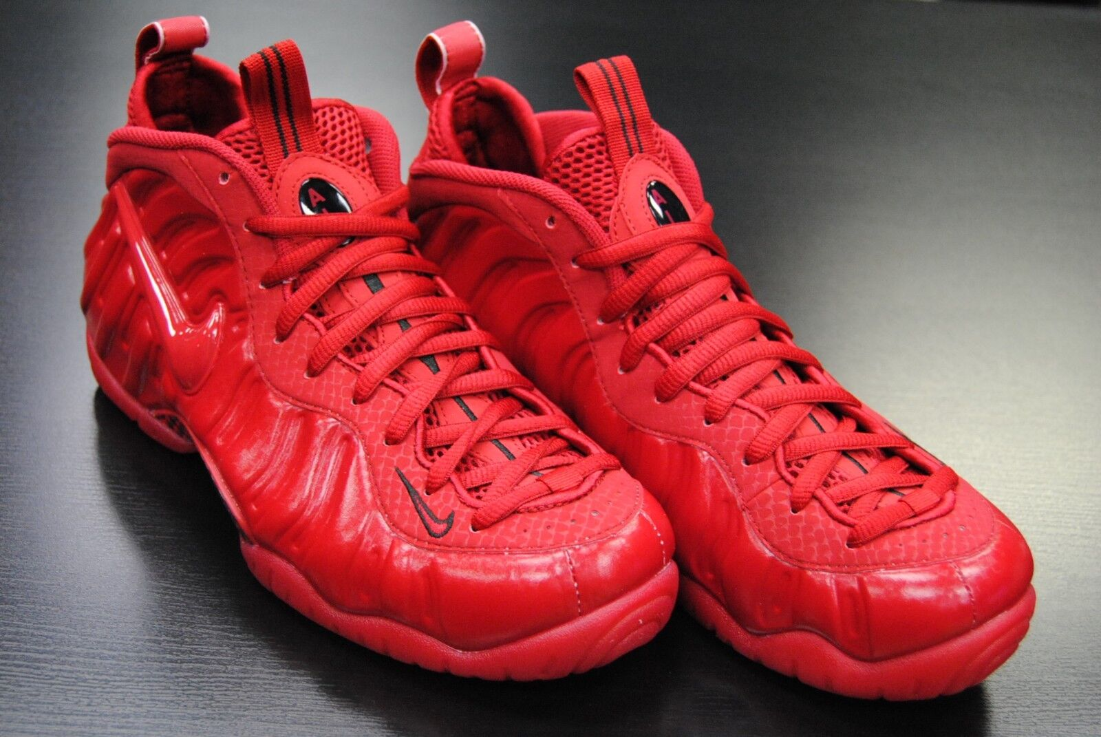 [624041 603] NEW MEN'S NIKE AIR FOAMPOSITE PRO RED OCTOBER GYM RED BLACK LE638