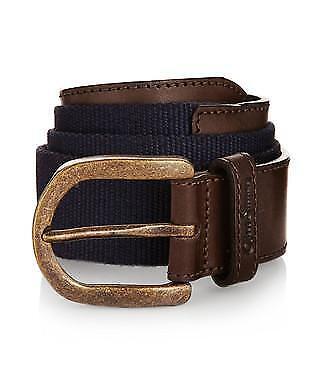 Oliver Sweeney Sweeney Sweeney Men's Belt braun Navy Leather And Canvas Tobias | Überlegene Qualität  03931d