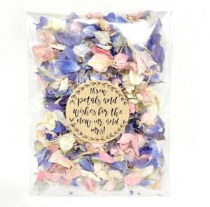 Pink-White-Blue-Dried-Biodegradable-Wedding-Confetti-Petal-Bags-Packets