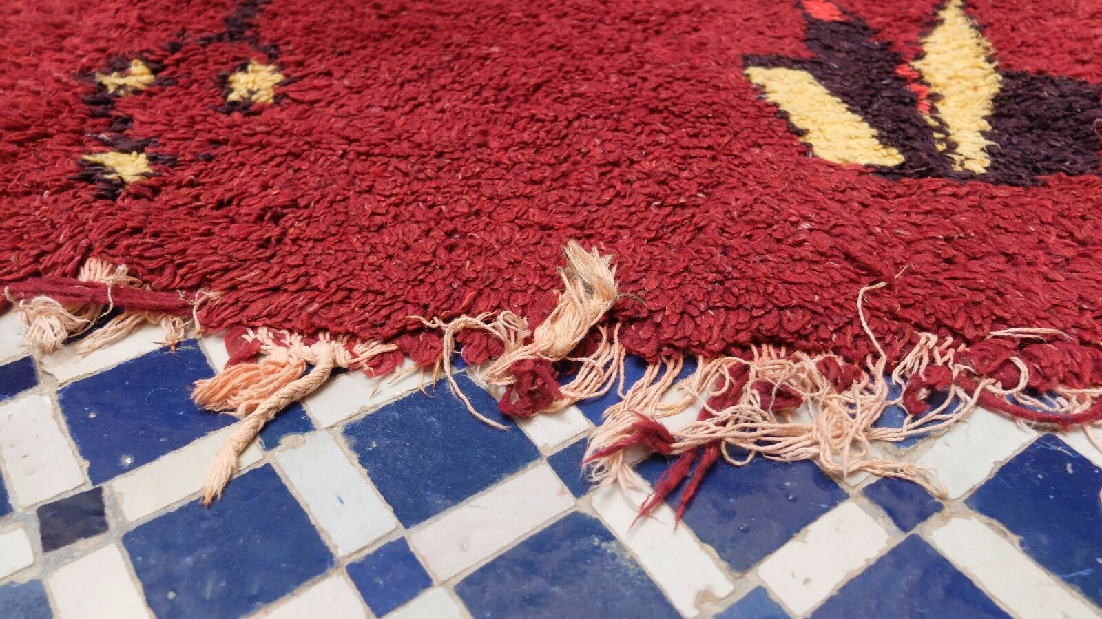 Vintage Rag Rag Rag MGoldccan Hand Woven by Berber Rug Azilal Autentic Rugs 8'1'' 4'9'' d1461d