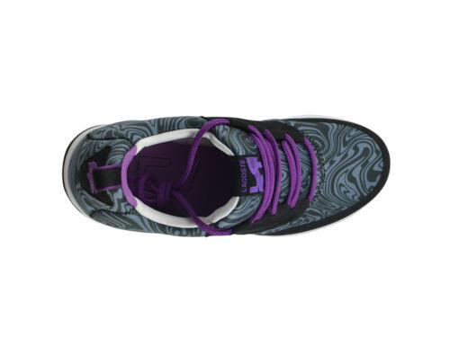Lacoste L Ight TC flexcomponentbase Black Grey Purple Chaussures Light Sneaker noir-vente