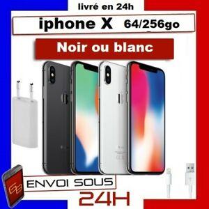 APPLE-Iphone-X-Noir-Argent-64Go-256-Go-Reconditionne-Comme-Neuf