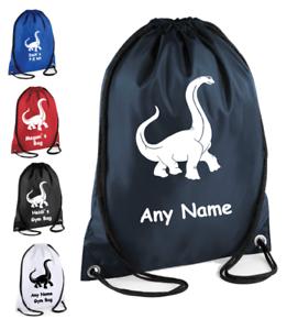 Personalised pe drawstring school bag Dinosaur bag