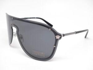 ec291dfc74 New Versace VE 2180 1000/87 Silver w/Grey 100087 Sunglasses | eBay