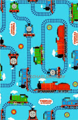 """THOMAS THE TANK ENGINE - 34"""" x 44"""" FABRIC (ONE PIECE - PRICED TO SELL ) NEW!!"""