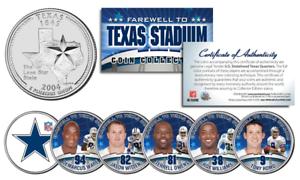 DALLAS-COWBOYS-6-Coin-TX-State-US-Quarters-Set-TEXAS-STADIUM-FAREWELL-COLLECTION