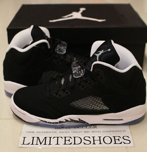 abf3aedf384f NIKE AIR JORDAN V 5 RETRO OREO GS 440888-035 grape bel iv black ...