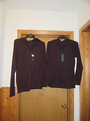 Long Sleeve Men/'s Hoodie Sweatshirts XL,MD,Marc Anthony Luxor Purple Wine NWT