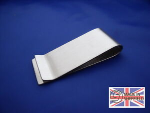 Money-clip-Stainless-steel-Gift-Sheffield-made