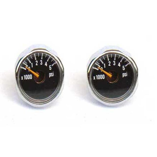 New 2x 5000 PSI Paintball Micro Gauge CO2 use