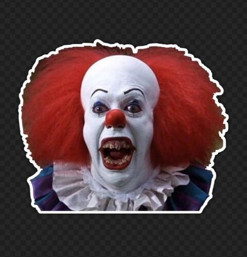 "3"" Pennywise Sticker Creepy Clown Evil Horror Movie Scary Terrifying Halloween"