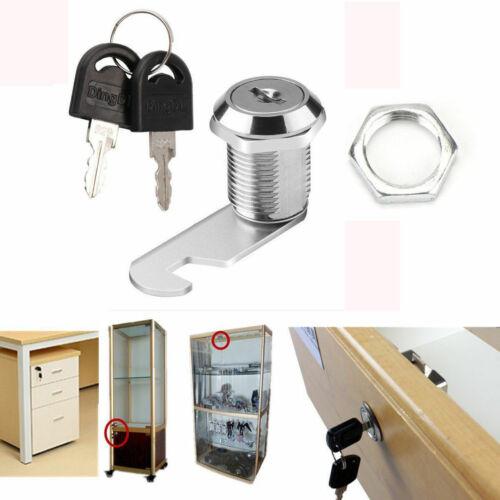 Cam Lock for Door Cabinet Mailbox Cupboard Locker 16mm 20mm 2 Keys replacement