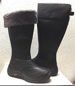 d090892d27c Details about UGG MIKO TALL BLACK WATER RESISTANT LEATHER Boot US 7.5 / EU  38.5 / UK 6 - NIB