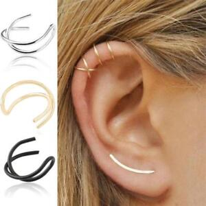 585a8cd0c8bf Unisex Wrap No Piercing Earrings Cuff Cartilage Ear Studs Clip On ...