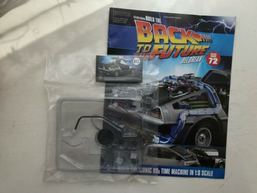 1:8 SCALE EAGLEMOSS BACK TO THE FUTURE BUILD YOUR OWN DELOREAN ISSUE 72 COMPLETE