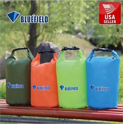 Blue Bluefield Waterproof Floating Dry Bag Kayak Camping Canoe 10L 2.6G w/ Strap